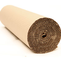 Corrugated cardboard roll 5m long